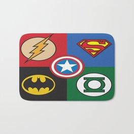 Superhero Logos No. 2 Bath Mat