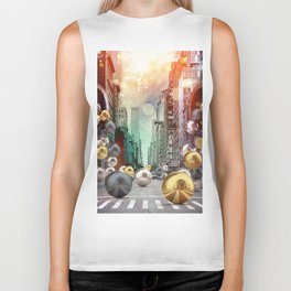 New York City Spill Biker Tank