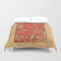 wood Duvet Covers featuring - wood - by Magdalla Del Fresto