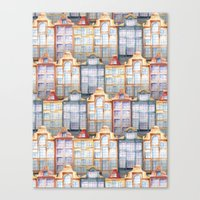 amsterdam Canvas Prints featuring  Amsterdam by Julia Badeeva