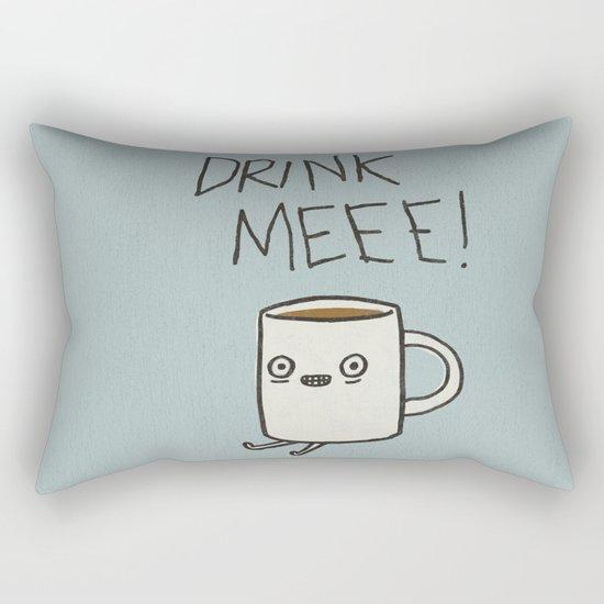 Drink Me Coffee Rectangular Pillow