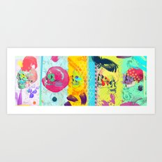 Candy knife fight Art Print