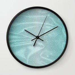Blue Snow WInter Background Wall Clock