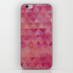 Pink Watercolor Triangles iPhone & iPod Skin