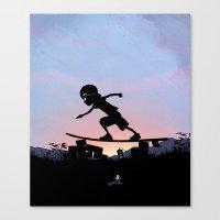 Silver Surfer Kid Canvas Print