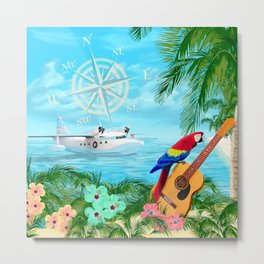 Tropical Travels Metal Print