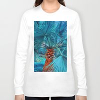 palm tree Long Sleeve T-shirts featuring Palm Tree by DistinctyDesign