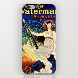 Waterman fountain pens 1919 iPhone Skin