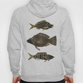 Fantastical Fish 2 - Black and Gold Hoody