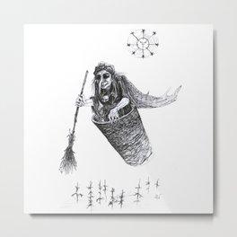 Baba Yaga Metal Print