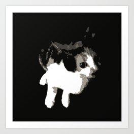 Beware the Demon Cat Art Print