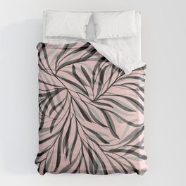 Pink Foliage I Duvet Cover