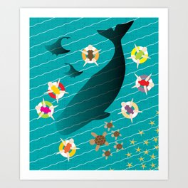 Ocean Harmony Art Print