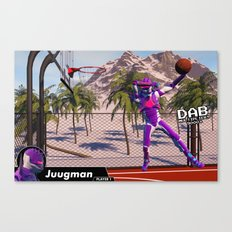 Dab On A Dunk Canvas Print