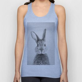 Rabbit - Black & White Unisex Tank Top
