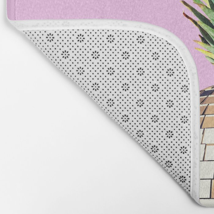 Ananas party (pineapple) Pink version Bath Mat