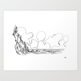 Surf's Up Short Sands Art Print