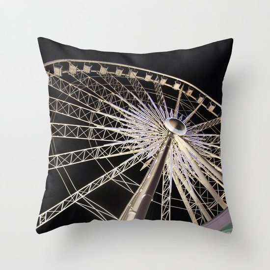 Wheeling Around Throw Pillow