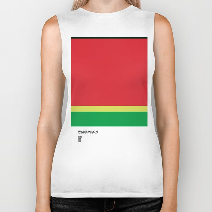 Pantone Fruit - Watermelon Biker Tank