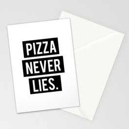 Pizza Never Lies Stationery Cards