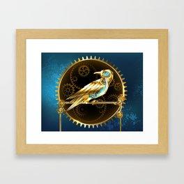 Mechanical Bird ( Steampunk ) Framed Art Print