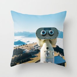 Alps of Switzerland Viewpoint Throw Pillow