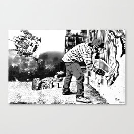 Wastelander Graffiti Canvas Print