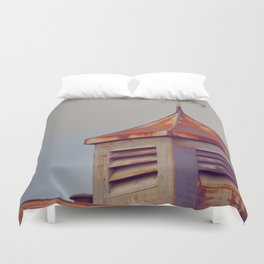 Rusted Rooftop Duvet Cover