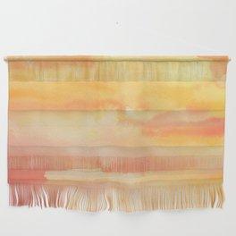 Apricot Sunset Wall Hanging