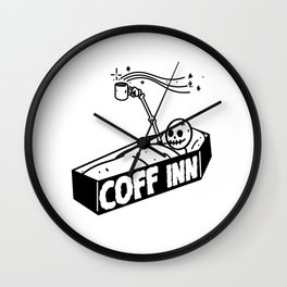 coffee skull Wall Clock