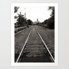 Railroad Tracks Art Print