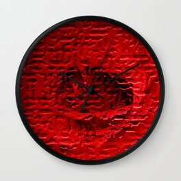 A Floral Study in Red Wall Clock