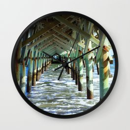 Under the Boardwalk - Square format Wall Clock