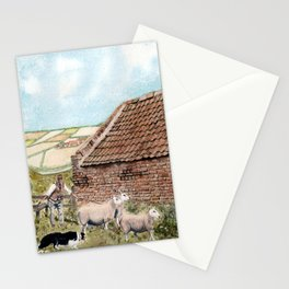 Farm Shed with Sheep Stationery Cards