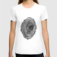 tree rings T-shirts featuring Tree Rings - Dark by Emily Swedberg (Ito Inez)