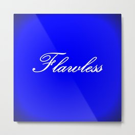 FlawlESS : Royal Blue Metal Print