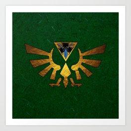 Tri Force of Zelda Art Print