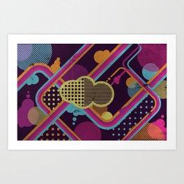 Funky Cloud Art Print