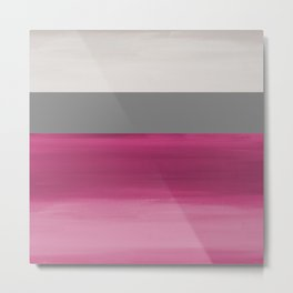 Magenta Taupe Ombre Metal Print