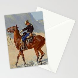 """Frederic Remington Western Art """"The Advance Guard"""" Stationery Cards"""