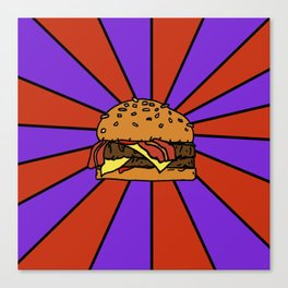 The Burger  Canvas Print