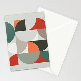 Mid Century Geometric 14 Stationery Cards