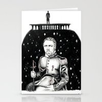 les miserables Stationery Cards featuring Les Miserables Portrait Series - Javert by Flávia Marques