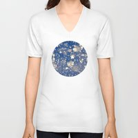 snow V-neck T-shirts featuring Snow by Loaded Light Photography