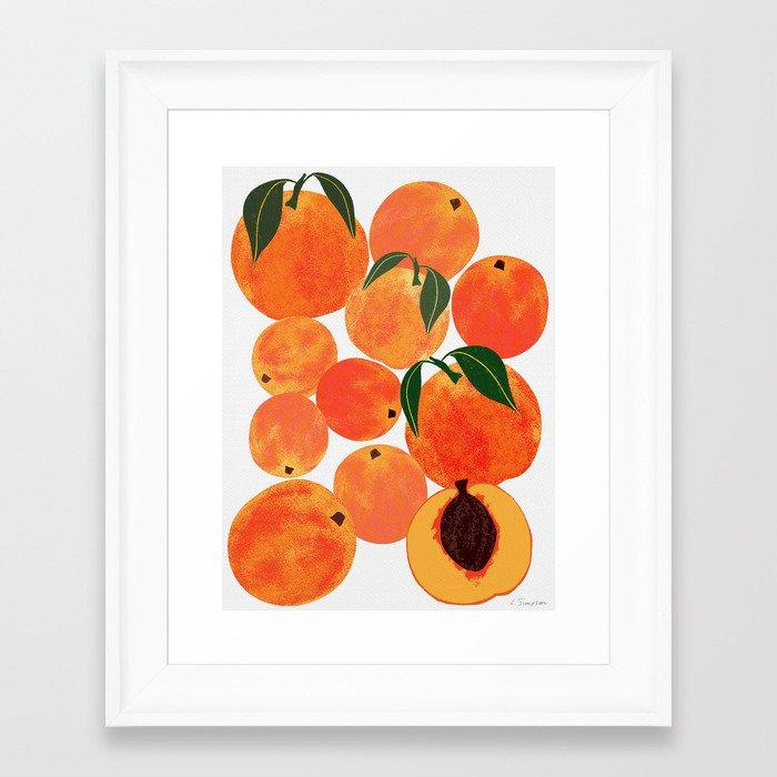Peach Harvest Framed Art Print