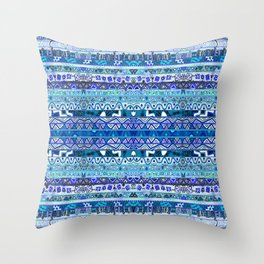 Faded Blues Throw Pillow