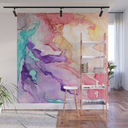 Color My World Watercolor Abstract Painting Wall Mural