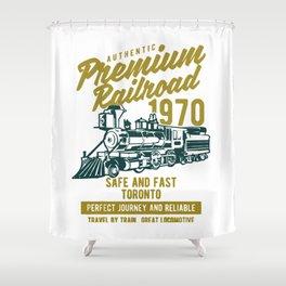 premium railroad Shower Curtain