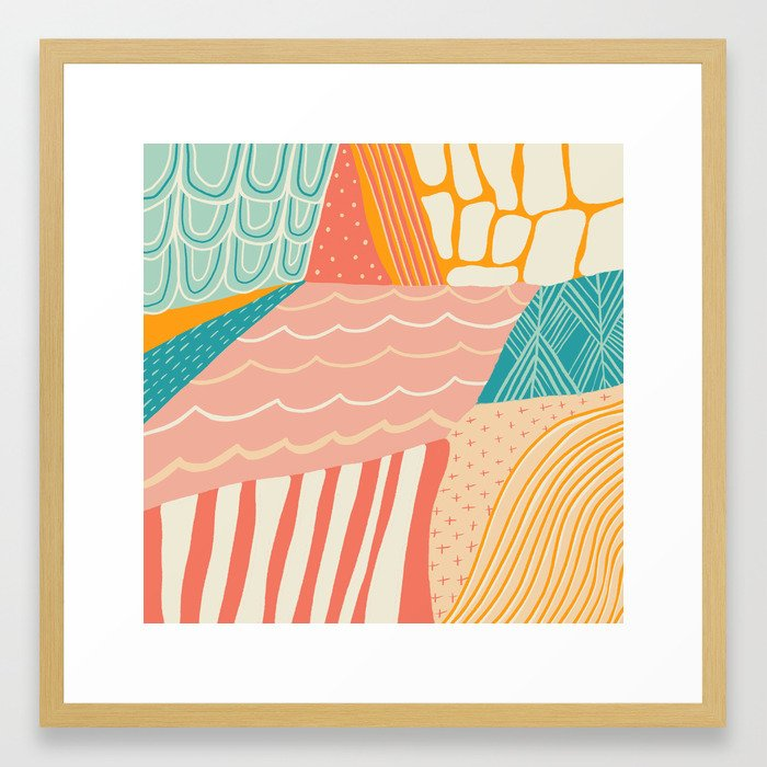 beach quilt Framed Art Print