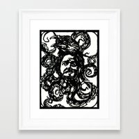 christian schloe Framed Art Prints featuring Christian by Hanna Virdarson